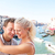 dating couple hugging and kissing in venice stock photo © maridav