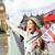 london   happy tourist holding uk flag by big ben stock photo © maridav