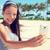 selfie fitness woman on beach with smartphone cell stock photo © maridav