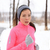 asian woman running in winter gloves and headband stock photo © maridav