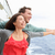 Romantic couple fun in funny pose on cruise ship stock photo © Maridav