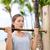 fitnessz · nő · testmozgás · bár · hölgy · képzés · karok - stock fotó © Maridav