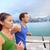 running young people jogging in hong kong city stock photo © maridav