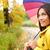 cair · mulher · feliz · chuva · caminhada · guarda-chuva - foto stock © maridav