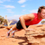 fitness athlete training push ups in nature stock photo © maridav