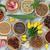 sarımsak · karanfil · yaprak · çanak · seramik - stok fotoğraf © marilyna