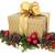 Noel · hediye · kutusu · altın · yay · kırmızı · önemsiz · şey - stok fotoğraf © marilyna