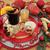 karácsonyi · étel · dekoráció · narancs · fahéj · csillámlás · fenyő - stock fotó © marilyna