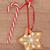 pão · de · especiarias · bolinhos · natal · floco · de · neve · enforcamento · linha - foto stock © marilyna