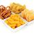 harapnivalók · sonka · olajbogyók · sajt · asztal · kenyér - stock fotó © marilyna