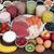 testépítés · kiegészítő · egészség · étel · porcelán · tálak - stock fotó © marilyna