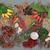 fűszer · gyógynövény · keverék · absztrakt · sáfrány · csillag - stock fotó © marilyna