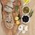 черный · хлеб · зеленый · лук · продовольствие - Сток-фото © marilyna