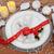 Noel · yemek · masası · neşeli · şerit · tablo · yer - stok fotoğraf © marilyna
