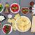 地中海料理 · コラージュ · ブルスケッタ · ラザニア · パスタ · トマト - ストックフォト © marilyna