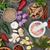 friss · aszalt · gyógynövény · fűszer · gyűjtemény · tölgy - stock fotó © marilyna