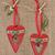 natal · coração · decorações · vermelho · retro · bugiganga - foto stock © marilyna