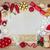 Noel · altın · yay · sınır · dekorasyon · ipek - stok fotoğraf © marilyna