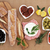 zwarte · olijven · gedroogd · tomaten · kom · witte · plantaardige - stockfoto © marilyna