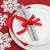 Рождества · обеда · место · пластин · омела · белая - Сток-фото © marilyna