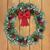 赤 · 緑 · 花輪 · 装飾された · リンゴ - ストックフォト © marilyna