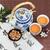 kínai · tea · edény · csészék · fekete · virág - stock fotó © marilyna