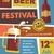 cerveja · festival · vintage · cartaz · negócio · comida - foto stock © marish