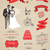 wedding vector set with graphic elements stock photo © marish
