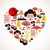 Heart shape with Japan icons stock photo © marish