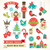 christmas retro icons elements and illustrations stock photo © marish