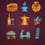 set of italy vector icons stock photo © marish