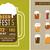 conjunto · cerveja · elementos · diferente · assinar · bar - foto stock © marish