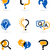 tekstballon · vraagteken · iconen · abstract · onderwijs · communicatie - stockfoto © marish