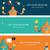 robot designer   creative thinking web banners stock photo © marish