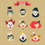 vintage circus freak show icons and hipster characters stock photo © marish
