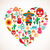 mexico love   heart with set of vector icons stock photo © marish