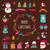 tábla · karácsony · terv · elemek · szett · stílus - stock fotó © marish