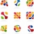 Business abstract icons, colorful set stock photo © marish