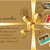 Christmas gift with gold ribbon and vintage postage stamps stock photo © marish