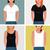 girls with t shirts vector flat mock up template set stock photo © marish