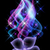 glowing background with flower and smoke stock photo © marisha