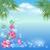 marine landscape with palm trees and flowers stock photo © marisha