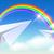 kettő · repülés · világoskék · égbolt · felhők · kék - stock fotó © marisha