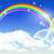 felhők · pillangó · buborékok · légy · fehér · gyönyörű - stock fotó © marisha