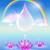 regenboog · waterdruppel · textuur · hemel · water · abstract - stockfoto © marisha