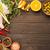 подготовленный · приготовления · куриные · ног · оливками · оранжевый - Сток-фото © markova64el