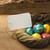 œufs · de · Pâques · ion · naturelles · bois · espace · de · copie - photo stock © markova64el