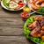 обеденный · стол · разнообразие · пространстве · продовольствие · жареная · курица · крыльями - Сток-фото © markova64el