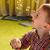 ребенка · играет · мыльные · пузыри · стороны · улыбка · ребенка - Сток-фото © markova64el