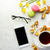 tea with cookies macaroons and smartphone with glasses stock photo © markova64el